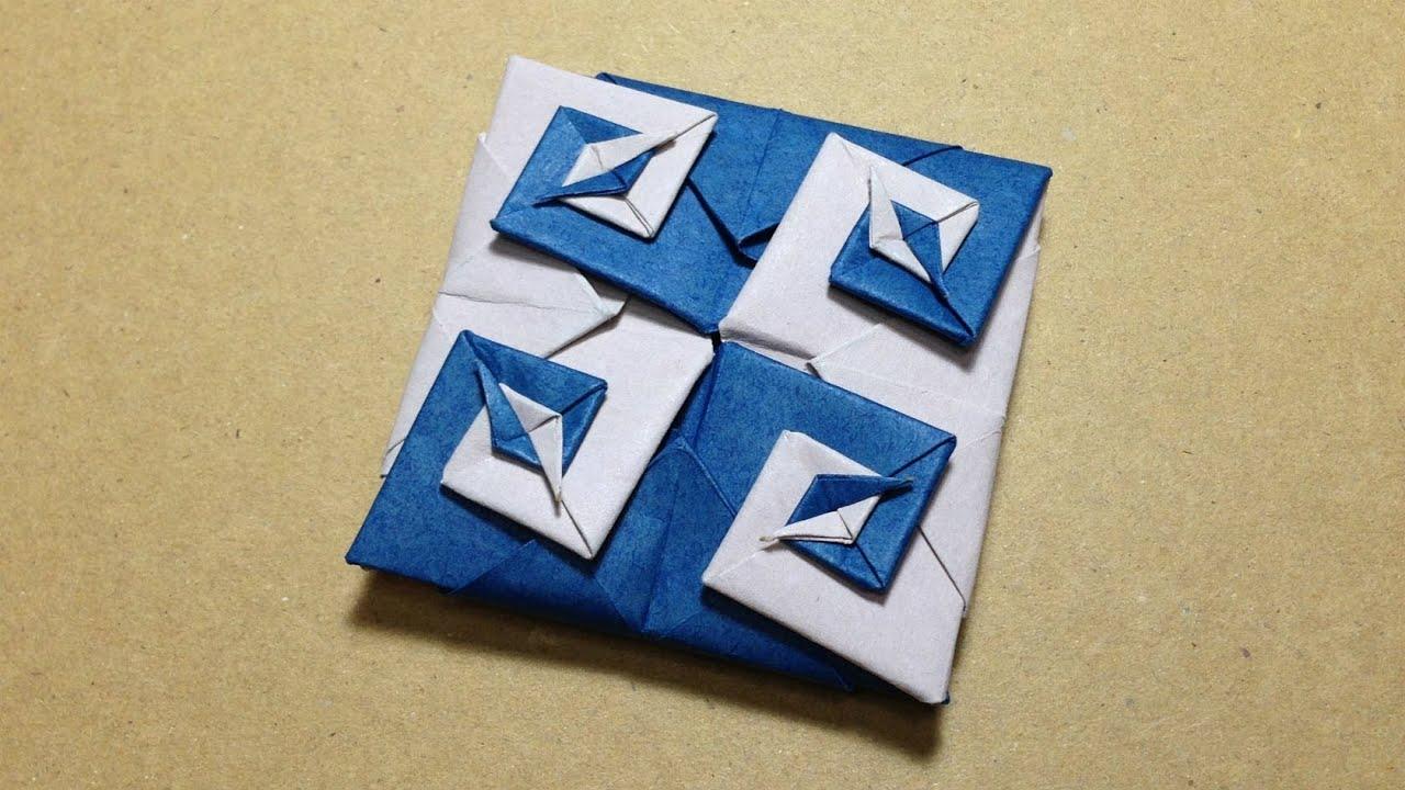 すべての折り紙 かんたん折り紙 : Modular Origami Coaster