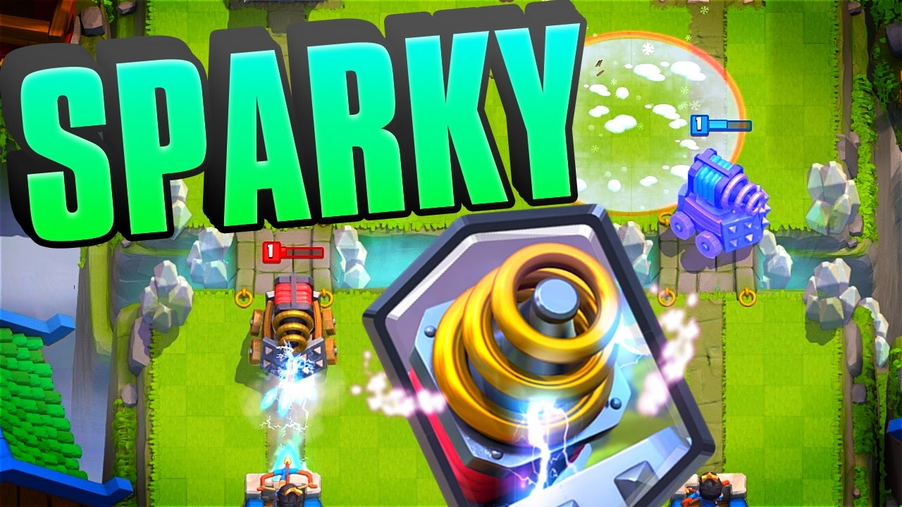 clash royale sparky legendary look gameplay