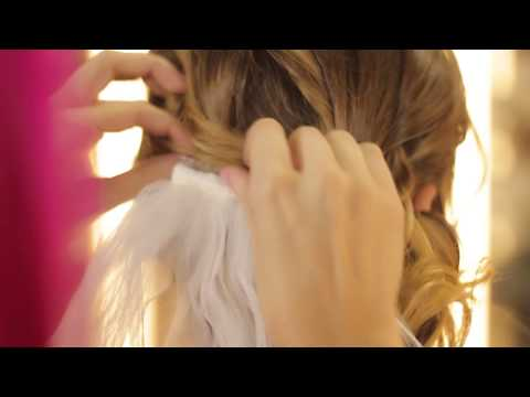 How to Wear a Bridal Veil With a Low Side Updo : Wedding & Event Hair