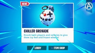 "NEW ""CHILLER GRENADE"" in Fortnite Battle Royale (Fortnite Content Update V7.30)"