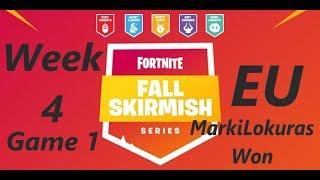 [Week 4 Game 1 EU] MarkiLokuras Won Fortnite Fall Skirmish