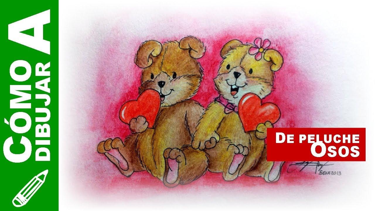 021. Cómo dibujar unos osos de peluche enamorados | Especial del ...