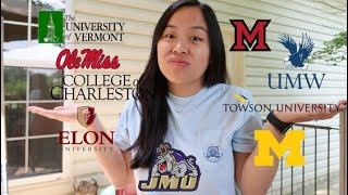 Top 10 Colleges - WHERE I'M GOING TO COLLEGE | Scores, Process and Why