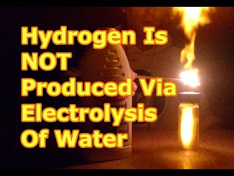 Hydrogen Is NOT Produced Via Electrolysis Of Water