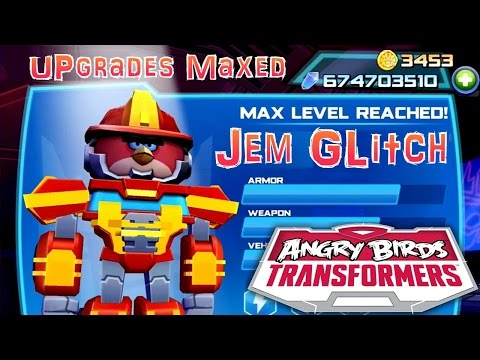 Let's Play Angry Birds Transformers - Gem Glitch (674,000,000) Upgrades Maxed