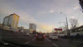 Минск (Minsk). Перекресток пр. Дзержинского и 2-го переулка Розы Люксембург (30.10.2013)