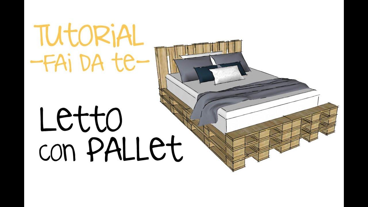 progettare letto con pallet progetto con bancali fai da