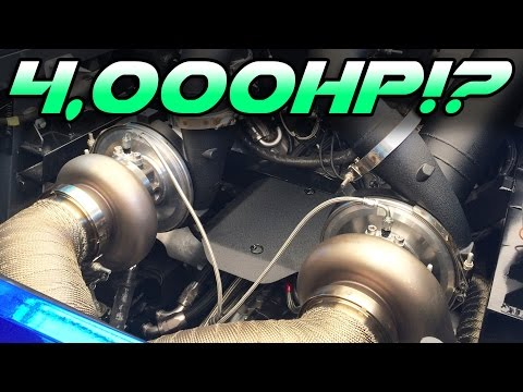 4000hp pair of TWIN TURBO Lambos!