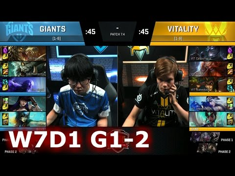Vitality vs GIANTS | Game 2 S7 EU LCS Spring 2017 Week 7 Day 1 | VIT vs GIA G2 W7D1 1080p