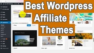In this video, i go through the wordpress theme database, and pick out some themes that you can use as an affiliate marketer, receive high click ...