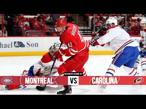 Montreal Canadiens vs Carolina Hurricanes - Season Game 81 - All Goals (7/4/16)