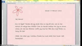 Skriva informellt brev