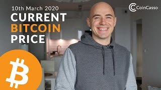 Current Bitcoin Price - March 10th 2020 (Bitcoin, Ethereum, Dash, Litcoin)