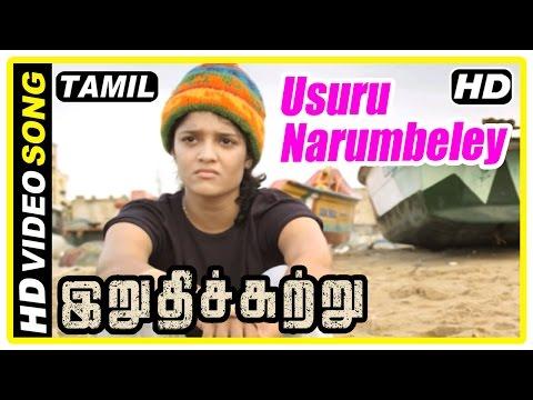 Irudhi Suttru Tamil Movie   Scenes   Usuru Narumbeley Song   Ritika is called back for boxing