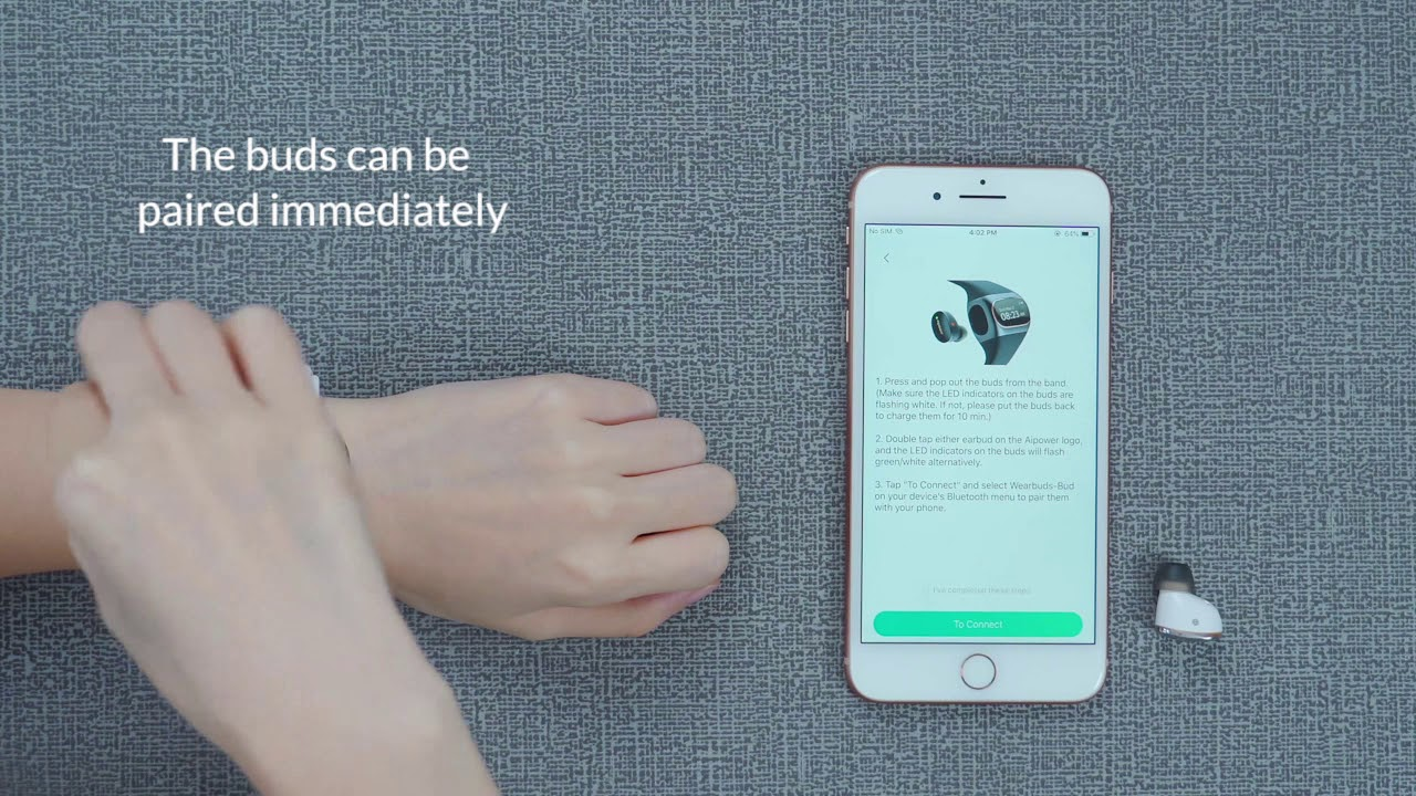 Wearbuds™ | Wireless Earbuds Charged Right on Your Wrist by