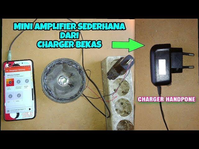 Mini amplifier dari Charger bekas