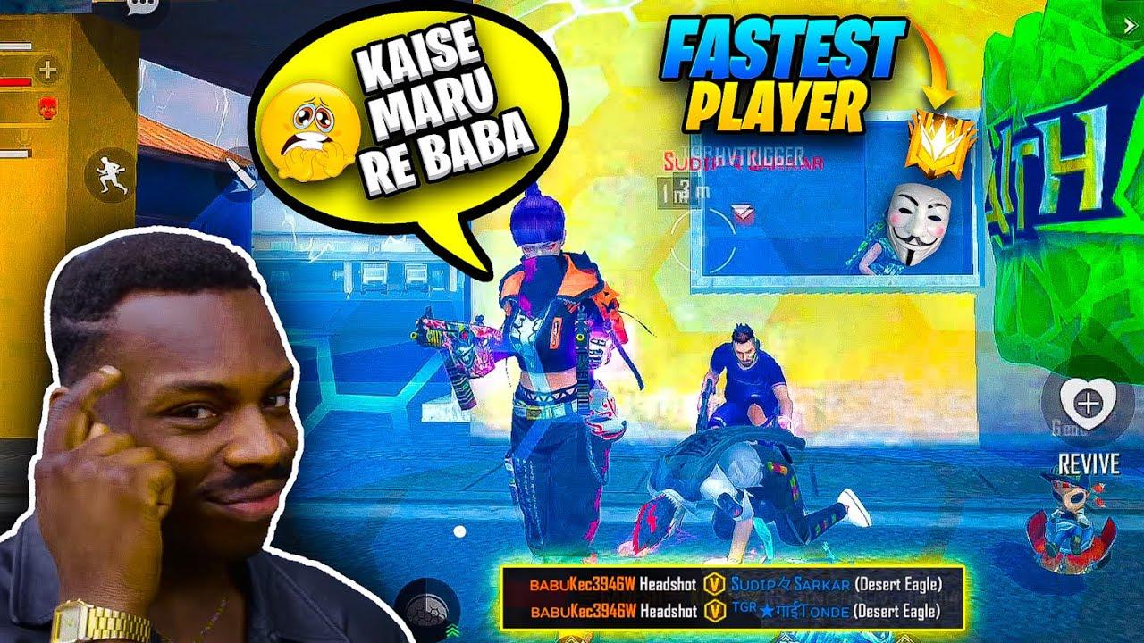 He's Faster than Raistar, Ruok, Light, Flash & White 444 - Kya Maar paunga ?? Garena Free Fire