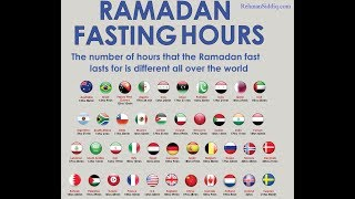 Ramadan 2018 fasting hours in the world    Welcome Ramadan    ISLAMIC TALKS
