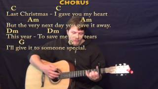 Last Christmas (WHAM!) Strum Guitar Cover Lesson with Chords/Lyrics - Capo 2nd