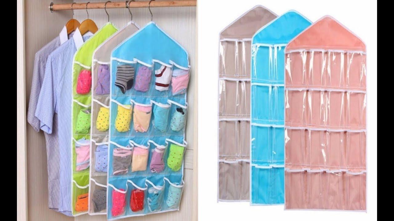 Organizer Bag Multifunction Clear Socks Cosmetic Toy Underwear Sorting Storage  Bag органайзер одежды