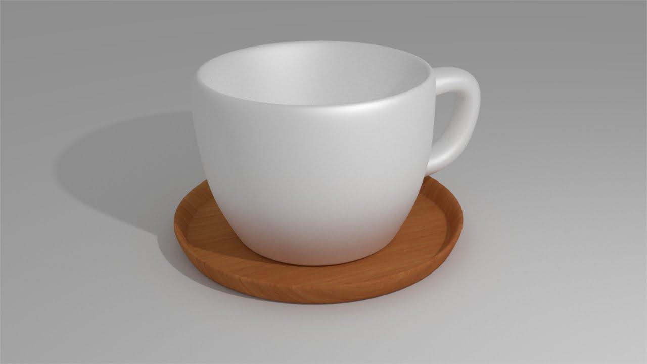 blender modeling tea cup