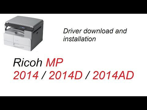 Ricoh MP 2014 / 2014D / 2014AD Driver Download and