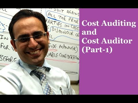 Introduction To Cost Auditing And Cost Auditor-(Video- 1)