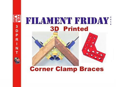 Filament Friday #53 - 3D Printed Woodworking Corner Clamp Braces On DaVinci Jr.