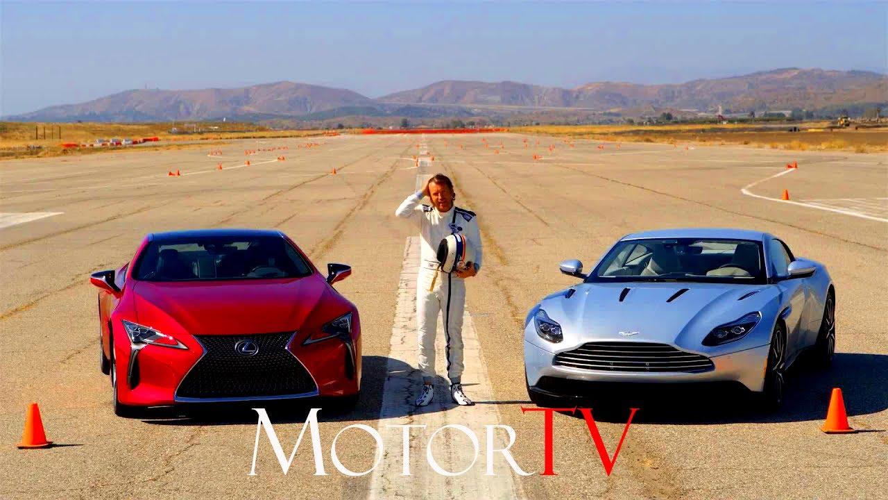 2018 Lexus Lc 500 Vs 2017 Aston Martin Db11 L The Amci Track Test Eng Youtube