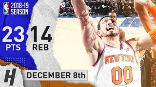 Enes Kanter Full Highlights Knicks vs Nets 2018.12.08 - 23 Pts, 14 Rebounds!