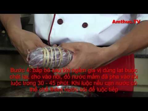 Bắp bò luộc mắm (Vào bếp cùng Sao - số 25) - amthuc.tv - tapchiamthuc.vn