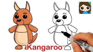 How to Draw a Kangaroo  Roblox Adopt Me Pet