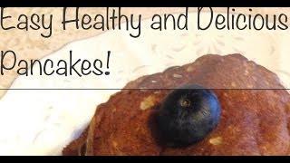 Healthy Gluten-free, Sugar-free And Dairy-free Banana Pancakes