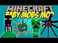 BABY MOBS MOD - Los mobs mas adorables!! - Minecraft mod 1.8 Review ESPAÑOL