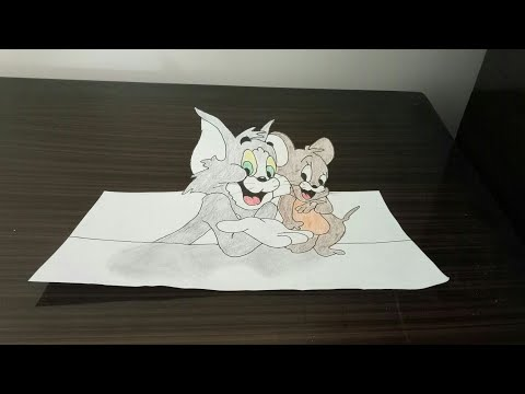 tom-and-jerry- -how-to-draw-tom-and-jerry-3d-step-by-step-drawing.