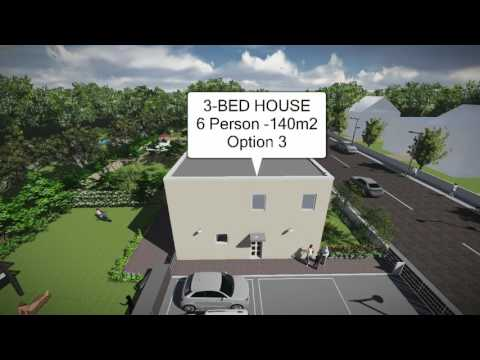 Buildeco flat-pack FlexiHouse '3Bed House' (Option 3)