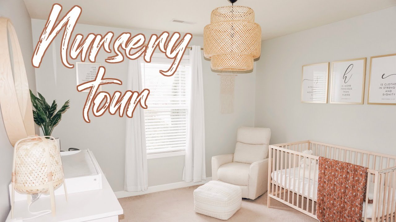 BABY GIRL NURSERY TOUR 2020 | Nursery Organization - YouTube