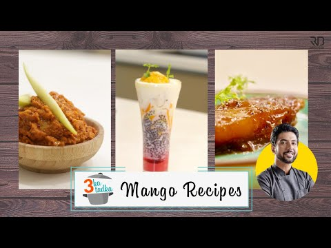 3 Mango Recipes | Mango Falooda | Aam Murabba | Aam ki Chutney | Mango Ice cream | Chef Ranveer Brar