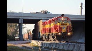 [HD] 4 trains 2 hours on the Florida East Coast Railway in Hialeah Florida