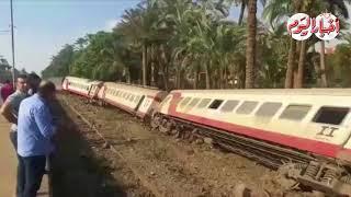 أخبار اليوم | حادث انقلاب قطار المرازيق بالبدرشين