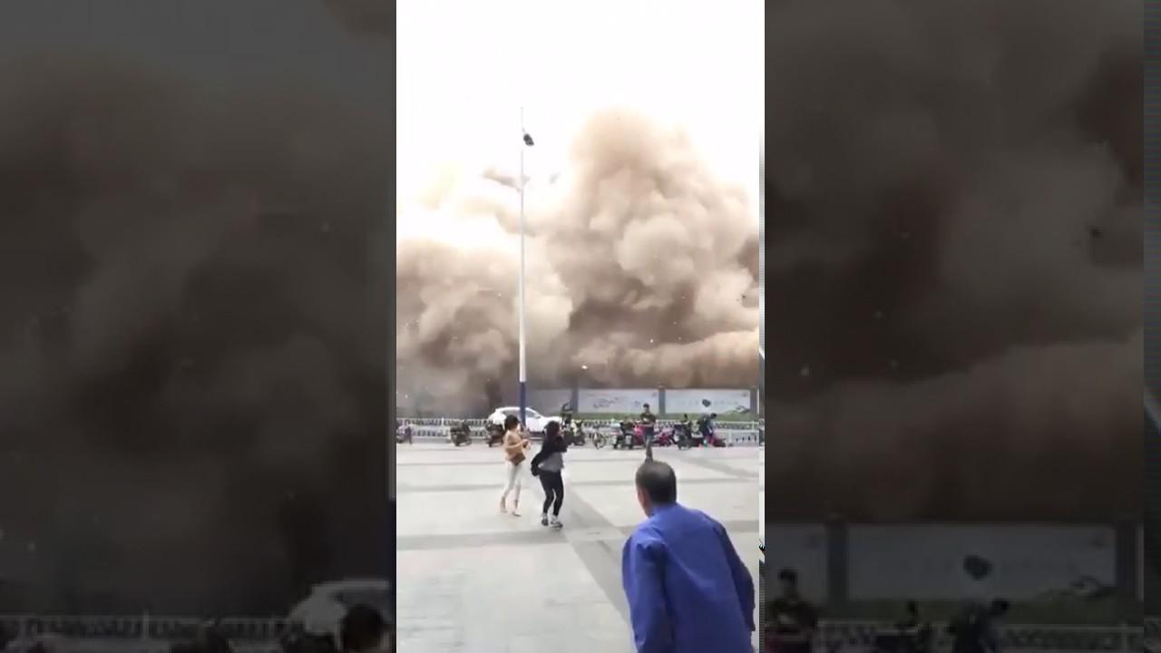 【素人投稿】中国の爆破映像の瞬間が凄まじいwww通行止めにしてwww