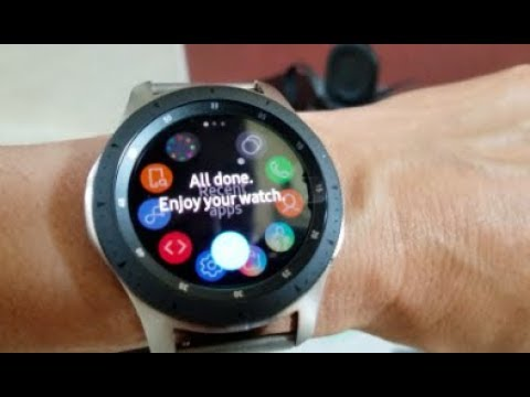 How To Install & Setup App Samsung 42mm 46mm Galaxy Silver Smart Watch! 9 1  18
