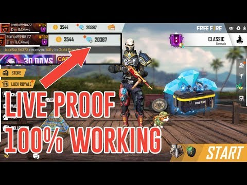FREE DIAMONDS IN FREE FIRE - LIVE PROOF - FREE TIPS TO GET EXTRA DIAMONDS - 100% WORKING METHOD - 동영상