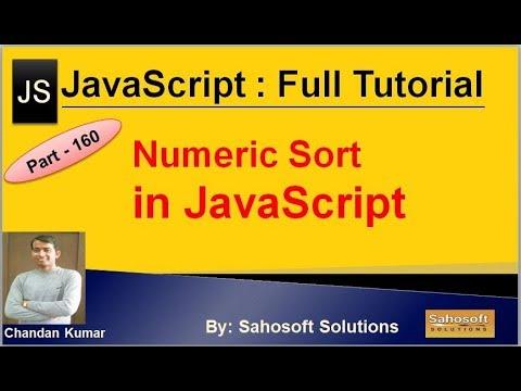 Numeric Sort  in JavaScript | JavaScript Full Tutorial in Hindi thumbnail