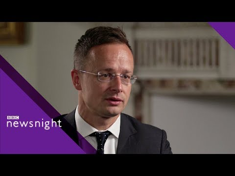 Hungarian foreign minister challenged on migration policy - BBC Newsnight