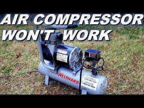 Air compressor won't turn on.