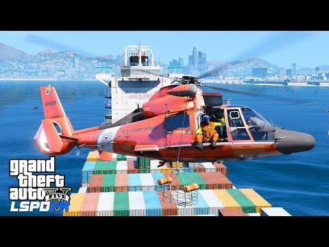 GTA 5 LSPDFR Coastal Callouts | Coast Guard Live Stream | New Cargo Ship Medevac