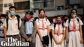 'This means war': Hong Kong students after teenager shot