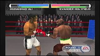 EA Sports Knockout Kings 2001 PS1 Muhammad Alí Vs Evander Holyfield