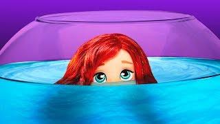 😢 ¡La Sirenita está CAPTURADA en una PECERA del ZOO! │ La Sirenita Disney!
